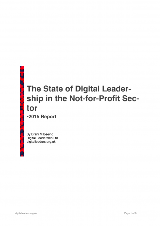The State of Digital Leadership - cover