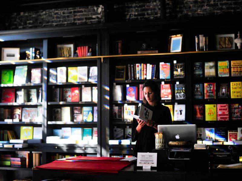 The depleted bookshop